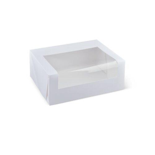 Detpak White 6 and 12 Cupcake Window Box and Inserts