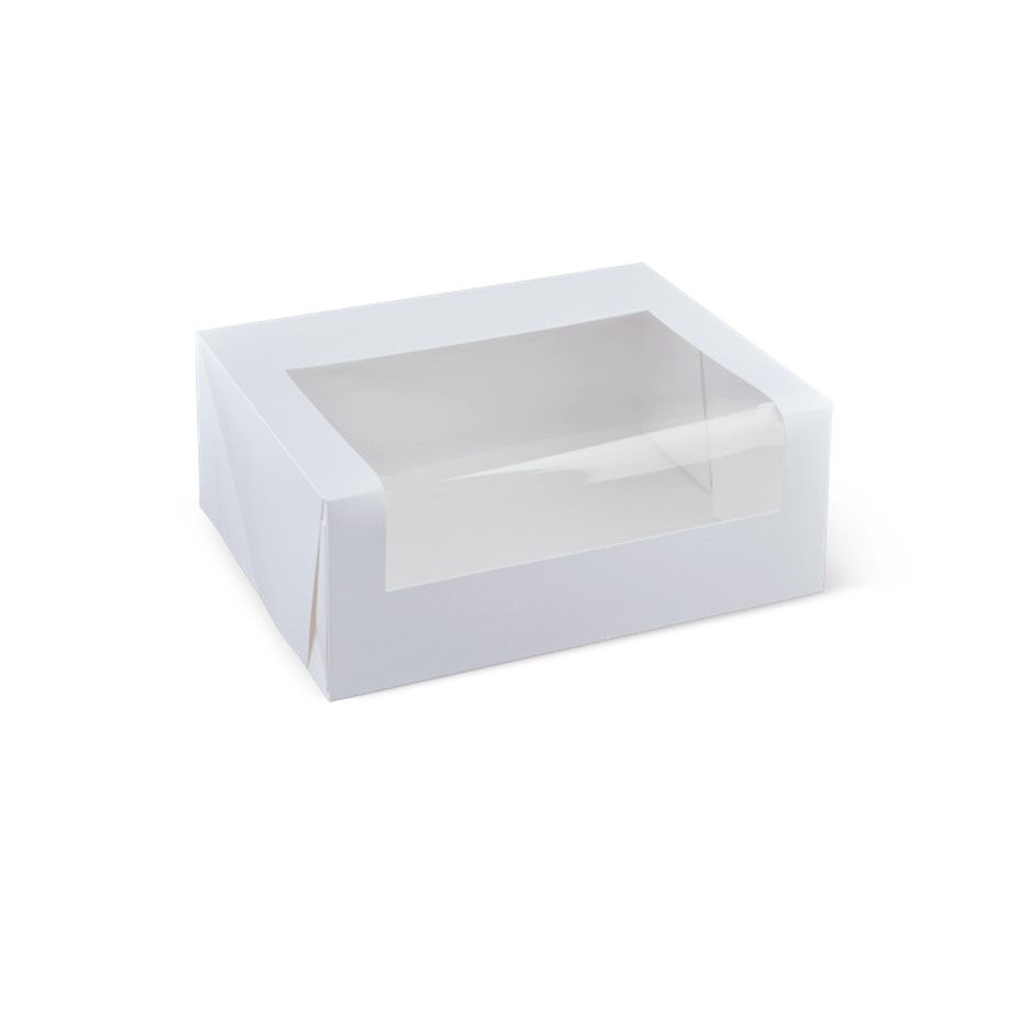 Detpak White 6 and 12 Cupcake Window Box and Inserts