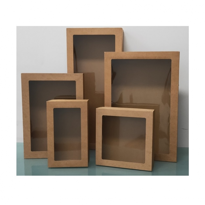 Brown Grazing Catering Boxes with Window Lid