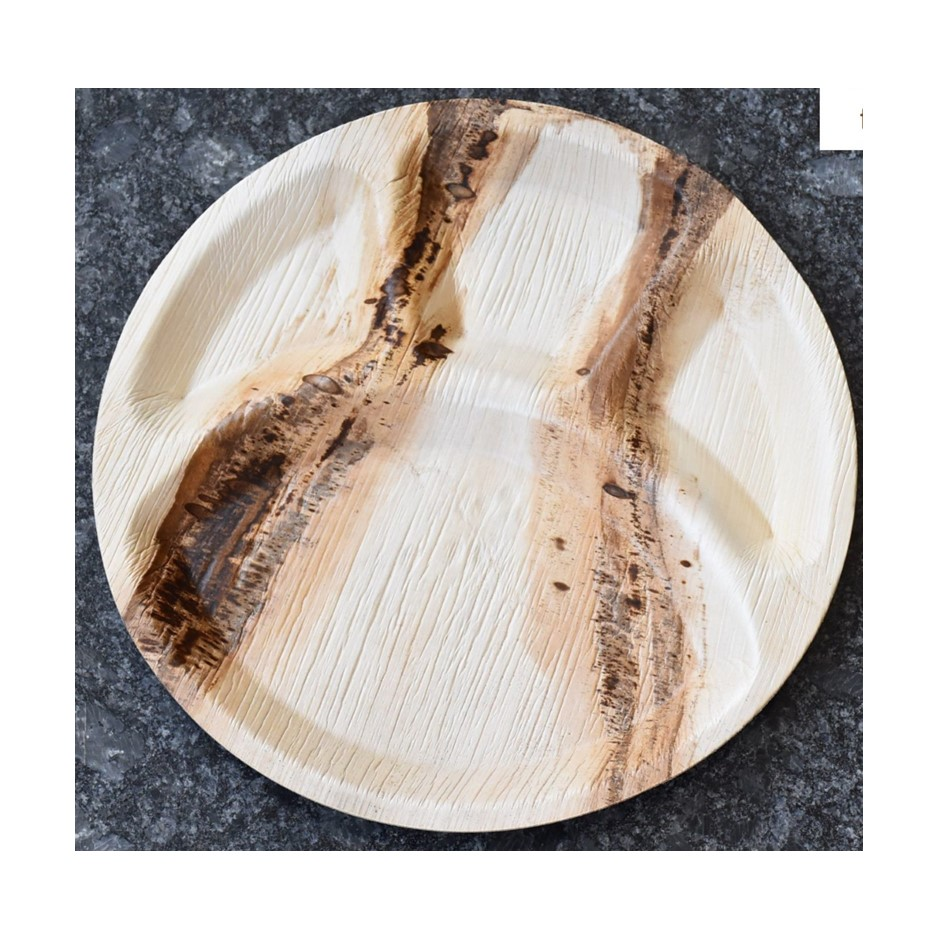 Palm Leaf Large Round 4 Compartment Plate - MMPL4CP