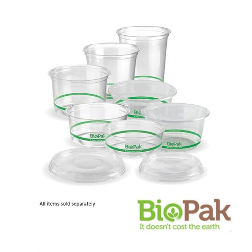 BioBowls Clear Bowls - 240ml, 360ml, 500ml, 700ml and 960ml