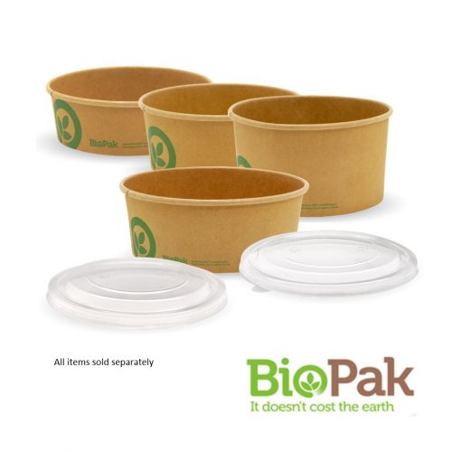 BioBowls Kraft Paper Bowls and Lids -Small, Medium, Large, Extra Large