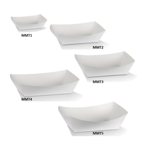 Cardboard Takeaway White Trays