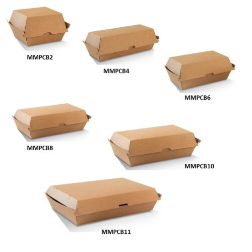 Corrugated Brown Takeaway Clamshell Boxes