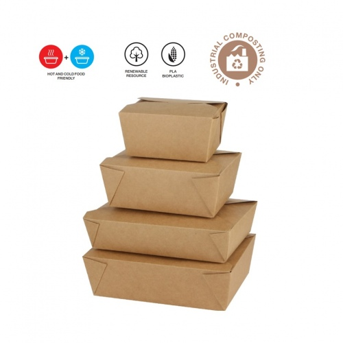 PLA Coated Takeaway Lunch Boxes