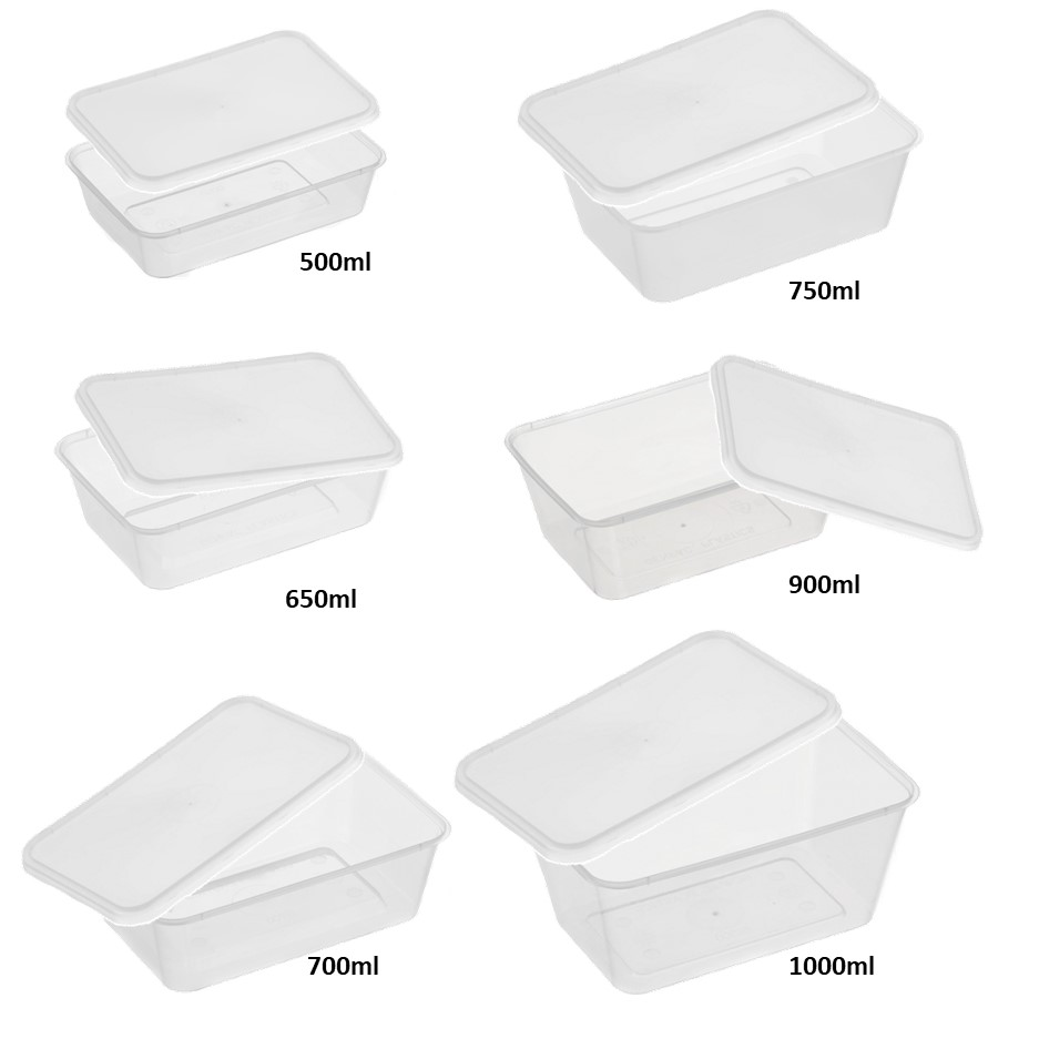 Genfac Rectangular Natural Containers and Lids - REG500