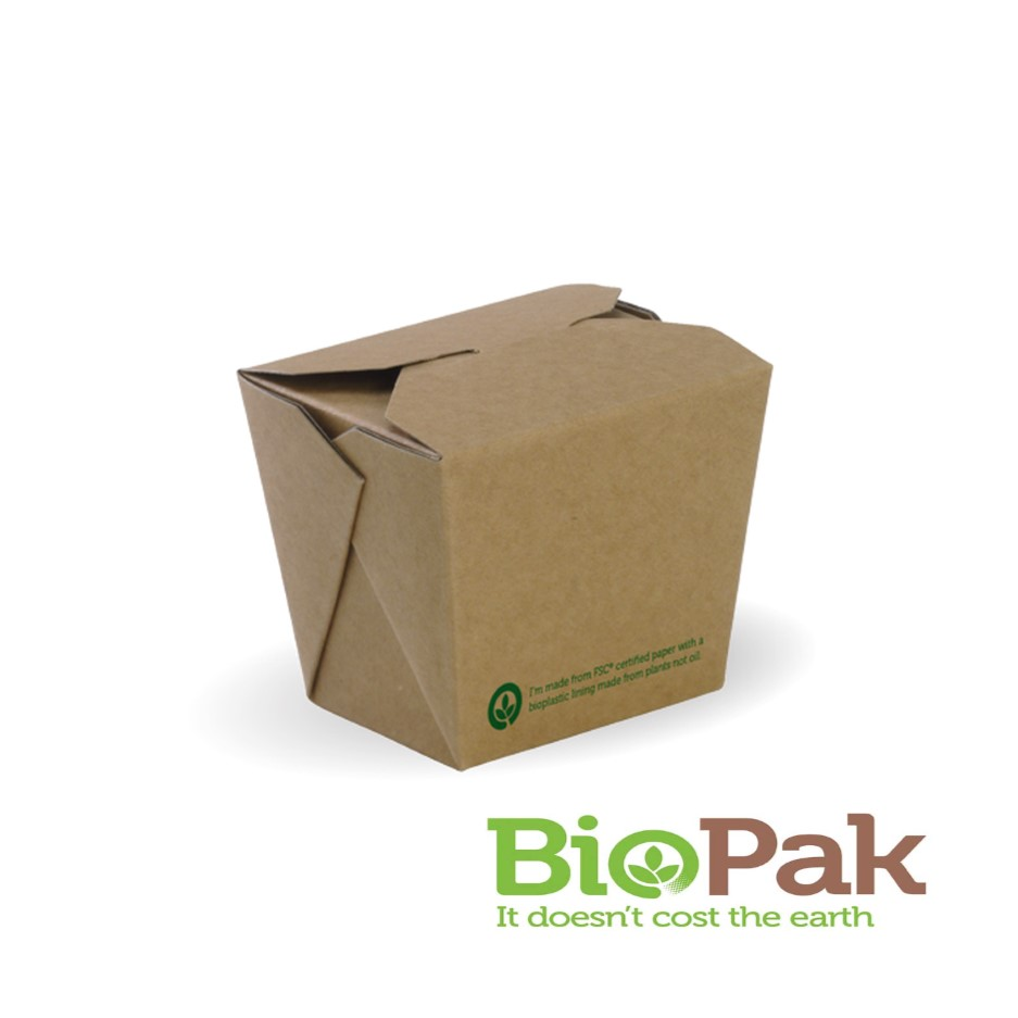 BioPak BioBoard Noodle Box 8oz 240ml - BB-NB-8