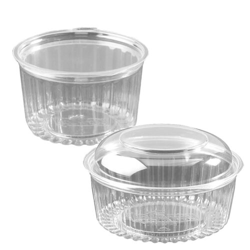 Showbowls with Flat and Dome Lid