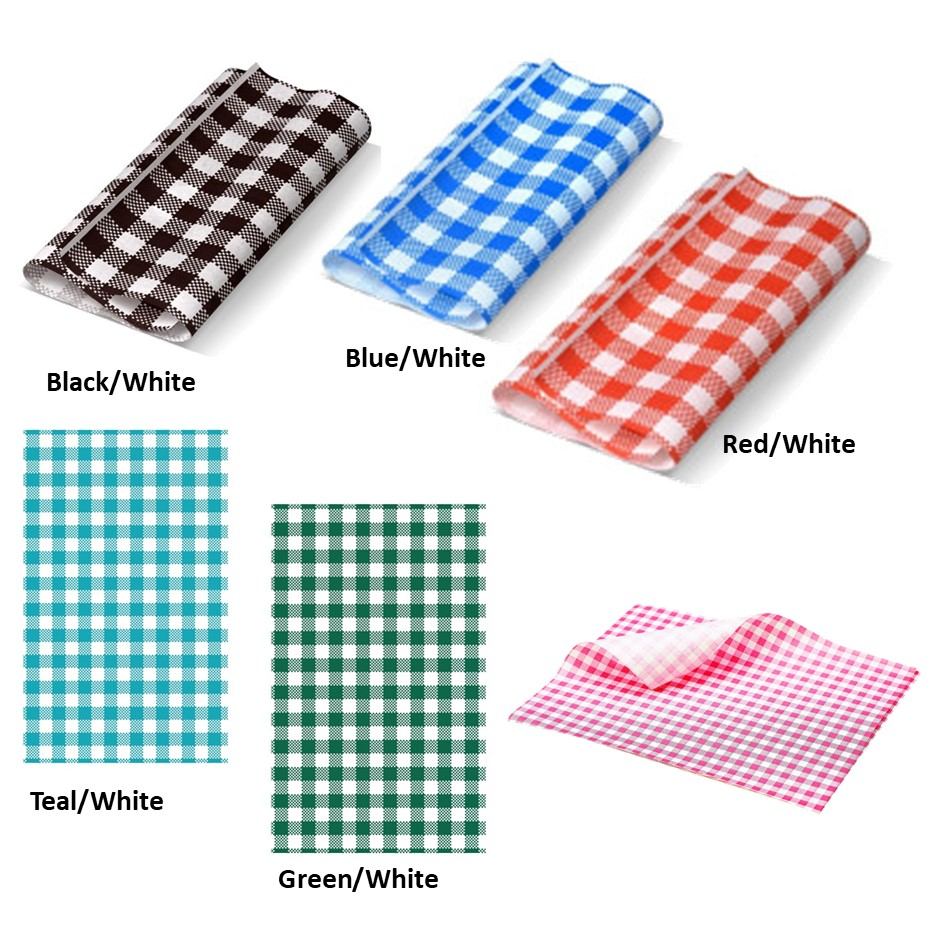 Greaseproof Paper - Gingham