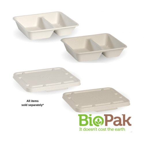 BioCane 2 Compartment Takeaway Base and Lid