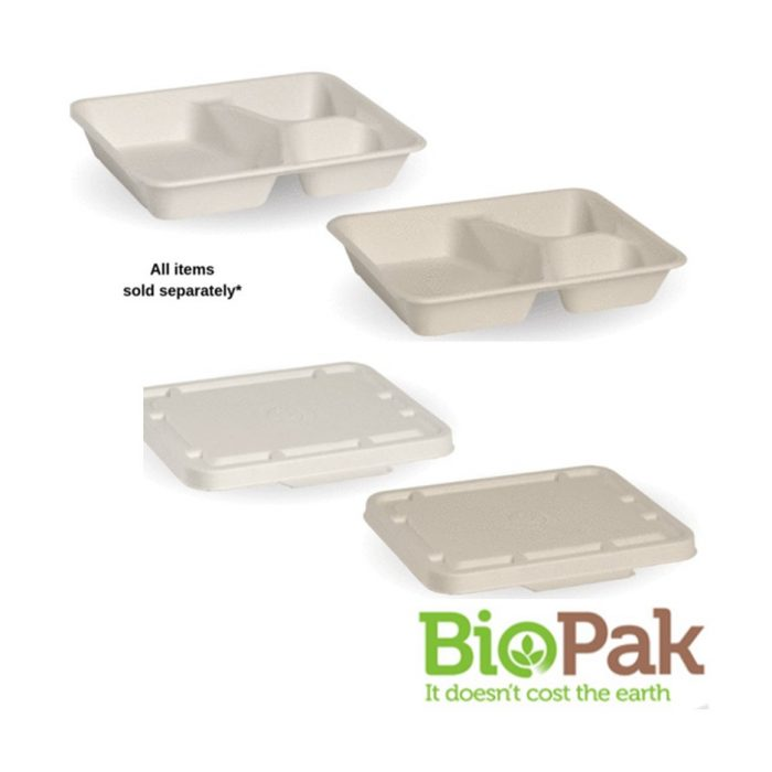 BioCane 3 Compartment Takeaway Base and Lid