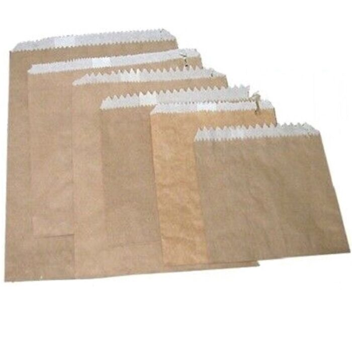Double Lined Grease Proof Paper Bags - Brown