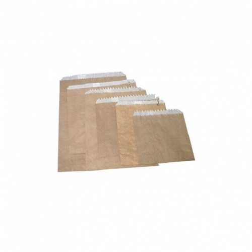 Double Lined Grease Proof Paper Bag - Brown