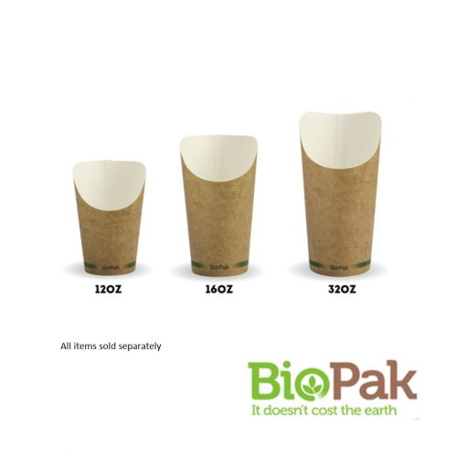 BioPak Chip Cups - Small, Medium and Large