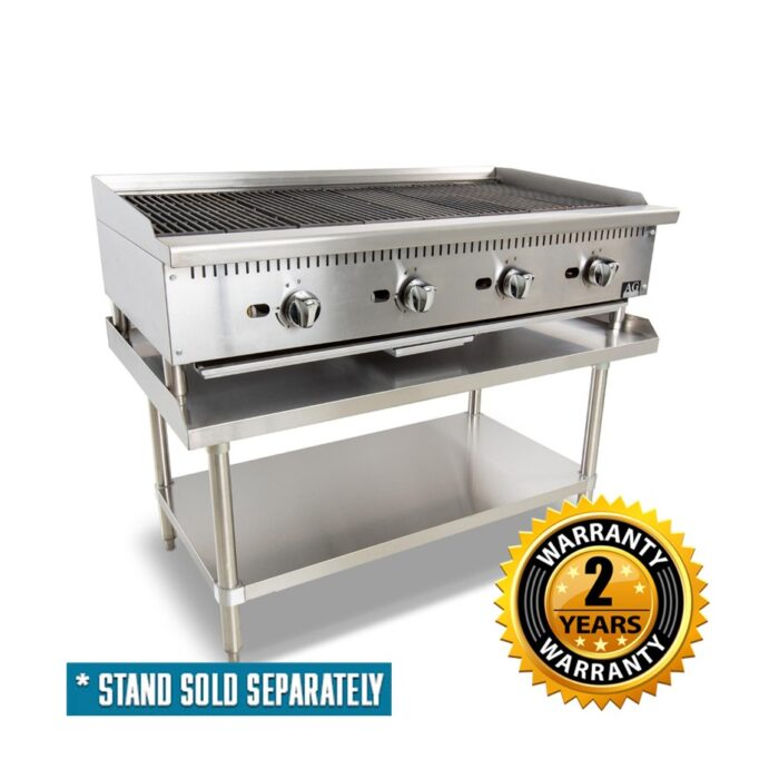 AG 4 Burner Chargrill with Lava Rock 1220mm - AGCH-122-LPG