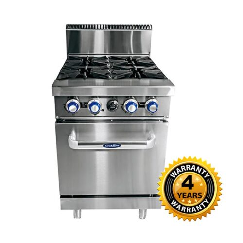 Cookrite Gas 4 Burner with Oven - AT80G4B-O