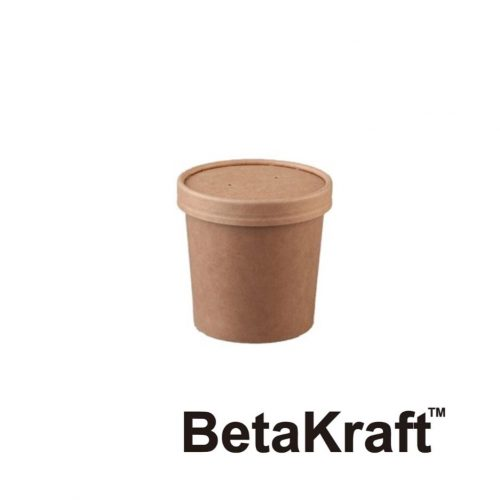 Eco BetaKraft Round Container with Lid - BK3423311