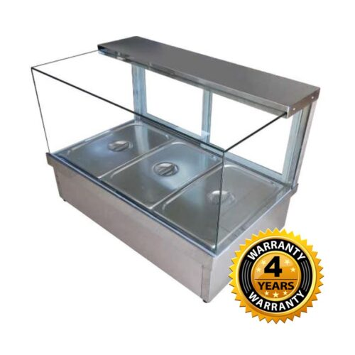 Cookrite Square Glass 2 Module Hot Food Display 725mm - CRB-4