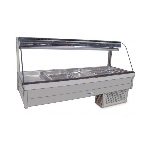 Roband Curve Glass Cold Food Display Bar - CRX25RD