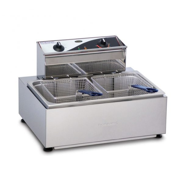 Roband Single Pan 2 Basket Electric Fryer - F111