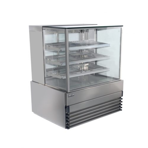 Square Glass Heated Display Cabinet - KT.SQHCD.9