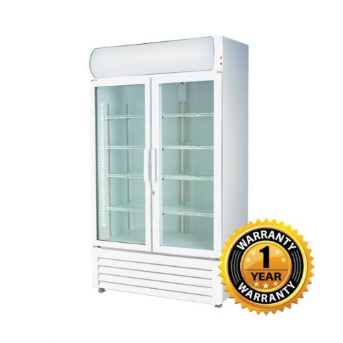 Thermaster Large Two Glass Door Upright Drink Fridge - LG-1000GE