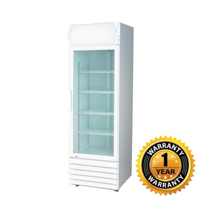 Thermaster Upright Single Glass Door Fridge - LG-370GE