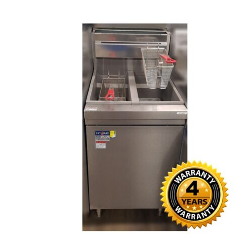 FryMax Superfast Natural Gas Tube Twin Vat Fryer - RC400TE