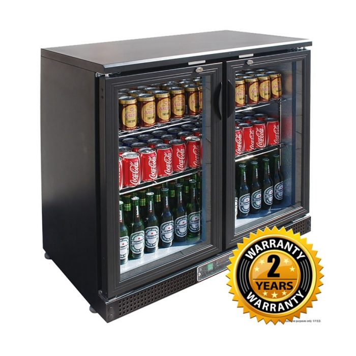 Thermaster Black 2 Door Bar Fridge - SC248G