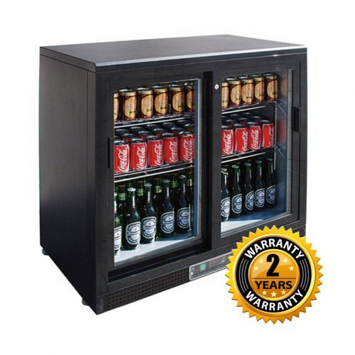 Thermaster Black 2 Sliding Door Bar Fridge - SC248SD