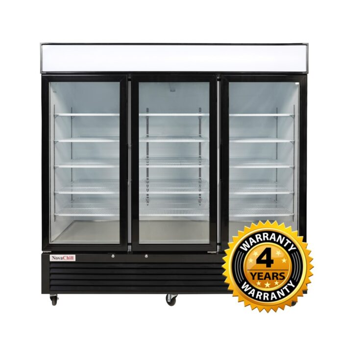 NovaChill Triple Glass Door Freezer - SM200GZ