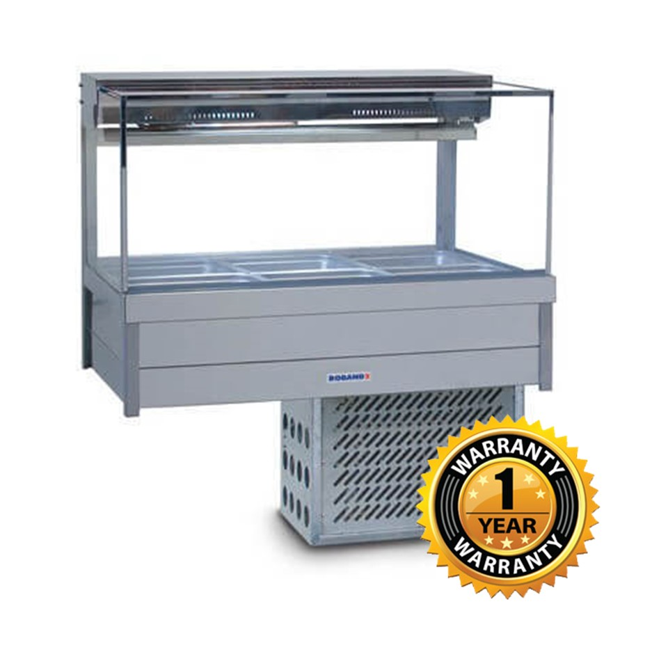 Roband Square Glass Cold Food Display - SRX23RD