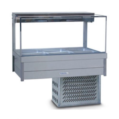 Roband Square Glass Cold Food Display Bars - SRX23RD