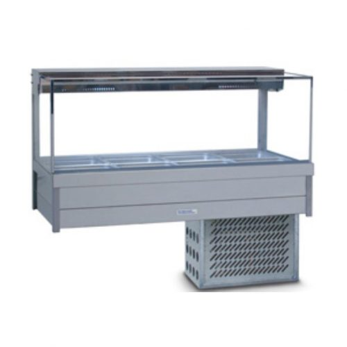 Roband Square Glass Cold Food Display Bars - SRX24RD