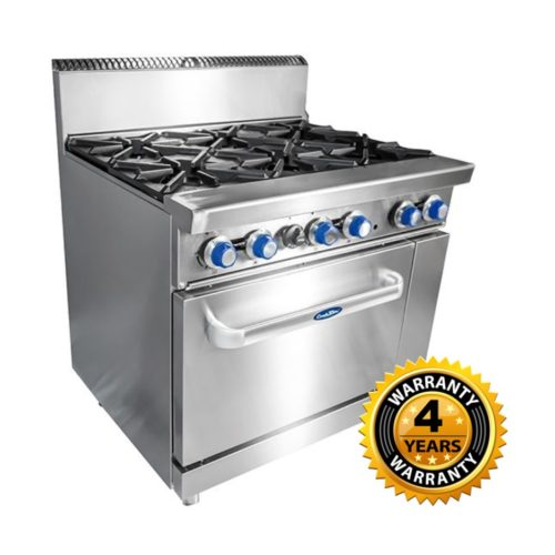 Cookrite Gas 6 Burner with Oven - AT80G6B-O