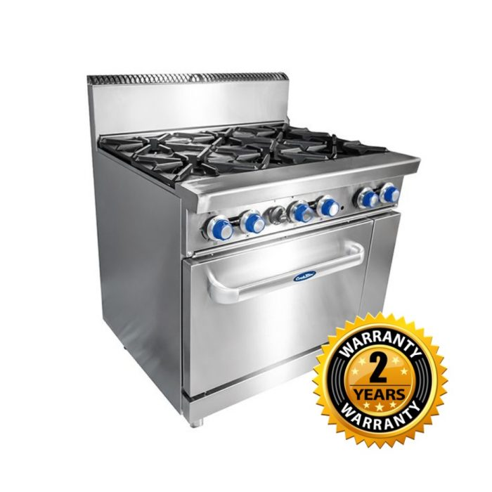 Cookrite Gas 6 Burner with Oven - ATO-6B-F