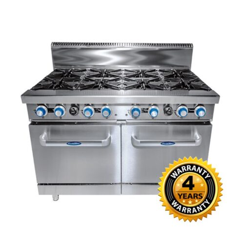 Cookrite Gas 8 Burner with Oven - AT80G8B-O