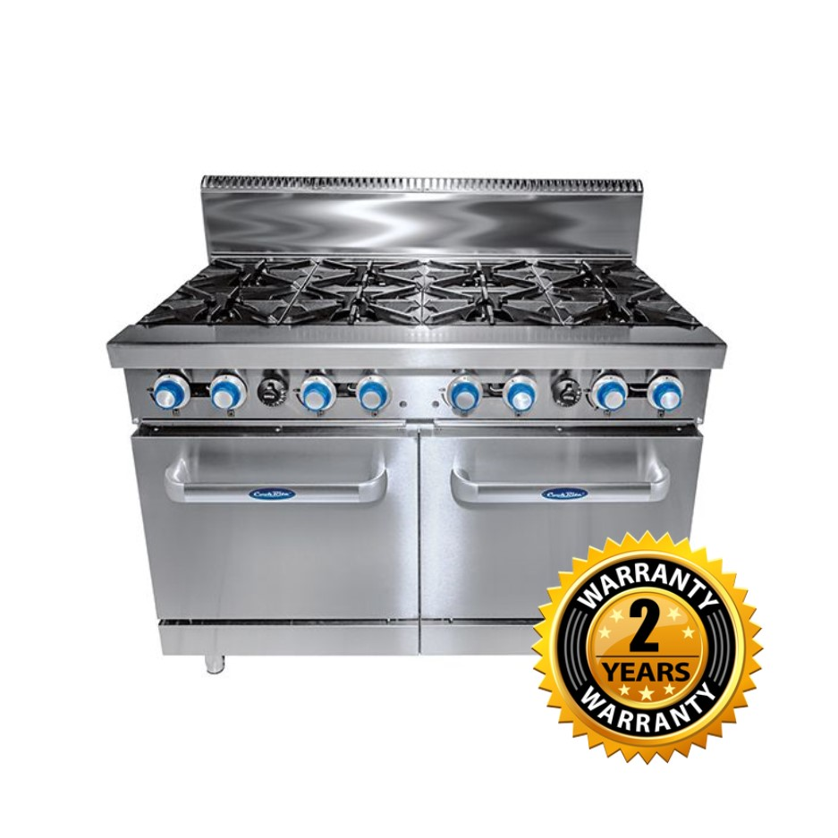 Cookrite Gas 8 Burner with Oven - ATO-8B-F
