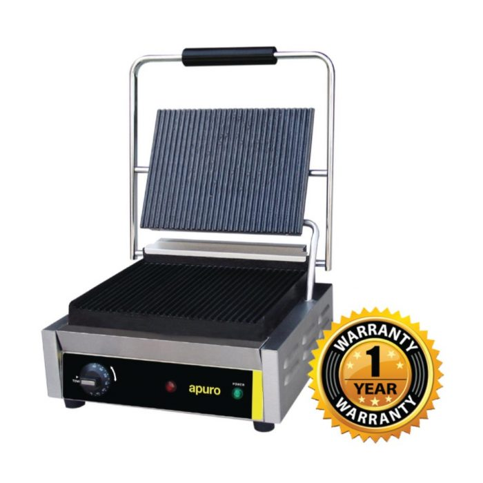 Apuro Bistro Contact Grill Ribbed Plates - DM903-A