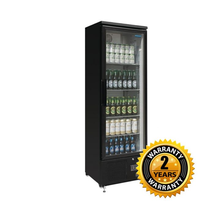 Polar Back Single Glass Door Hinged Door Fridge - GJ447-A