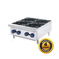 Cookrite Gas 4 Burner Open Cooktop - ATHP-24-4