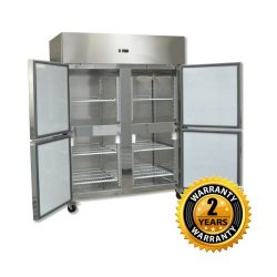 Grand Four 2/1 S/S Door Upright Fridge - GN1200TNM