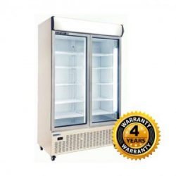 Huxford Double Glass Door Upright Fridge - HC1130