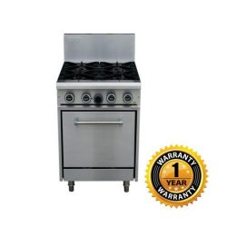 LKK Gas 4 Burner Oven Range - LKKOB4D+O