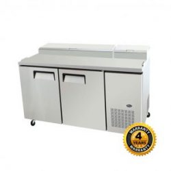 Snowman 2 Door Salad/Pizza Prep Bench - SLB-1701