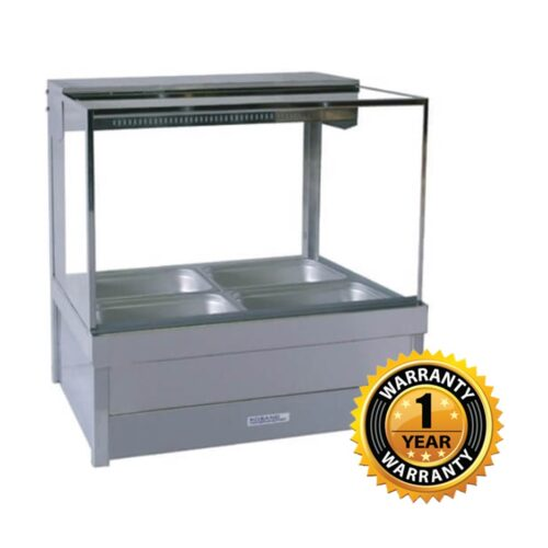 Roband Double Row Square Glass Hot Foodbar - S22