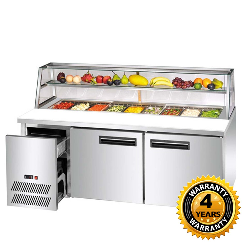 Thermaster Deluxe Stainless Steel Pizza, Salad Bar - SCB/15