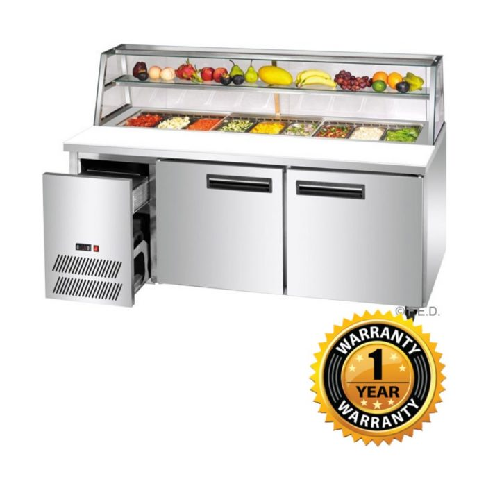 Thermaster Deluxe Stainless Steel Pizza, Salad Bar - SCB/18