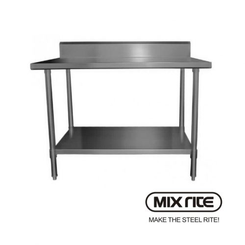 Mixrite Stainless Steel Work Bench With Splash-Back 600x700-WTS706B