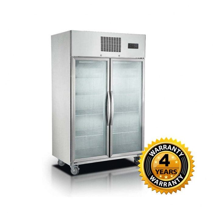 Thermaster Double Glass Door Upright Freezer 1000lts - SUFG1000